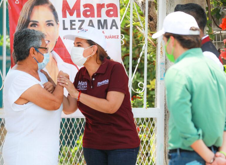 Mara Lezama camina de la mano de las y los ciudadanos
